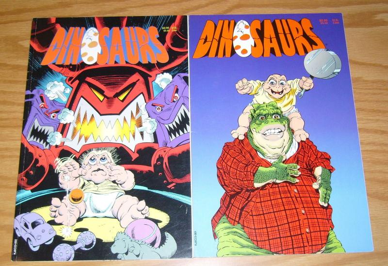Dinosaurs #1-2 VF/NM complete series based on television show NOT THE MAMA earl