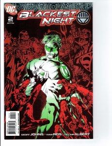 BLACKEST NIGHT #2 VF/NM 2ND PRINT Green Lantern red and green variant