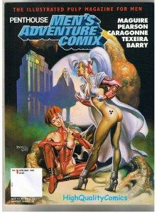 PENTHOUSE MEN'S ADVENTURE COMIX 1, NM, Boris Vallejo,1995, more in store