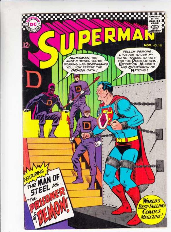 Superman #191 (Nov-66) VF/NM High-Grade Superman, Jimmy Olsen,Lois Lane, Lana...