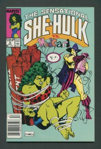 She-Hulk #9  /  9.6 NM+ - 9.8 NM-MT   Newsstand  December 1989