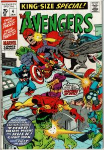 Avengers Annual #4, King Size Special 8.0 or Better
