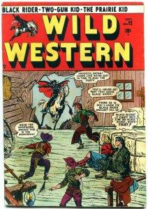WILD WESTERN #12 1950-MARVEL-BLACK RIDER-TWO GUN KID- FN-
