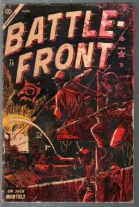 Battle Front #20 1954-Atlas-Joe Maneely story-Hitler-Classic WWII-FR