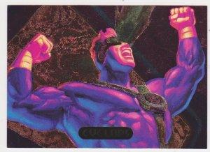 1995 Flair Marvel Annual Powerblast Card #4 Cyclops