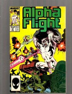 Alpha Flight # 51 VF Marvel Comic Book Jim Lee Wolverine X-Men Storm Beast J450