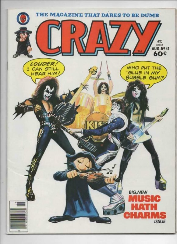 CRAZY #41 Magazine, VF, KISS, Gene Simmons, Woody Allen, 1973 1978,more in store