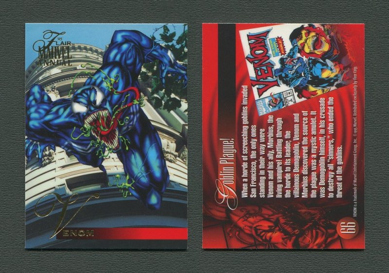 1995 Flair Marvel Annual Card #66 (Venom)  MINT