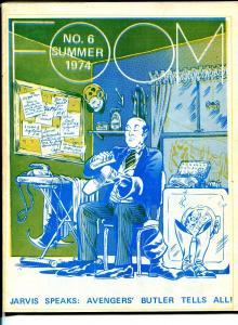 FOOM #6 1974-Marvel-Avengers butler Jarvis-Dave Cockrum-historic-FN