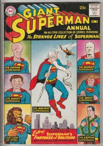 Superman Giant Annual #3 (Jul-61) FN- Mid-Grade Superman, Jimmy Olsen,Lois La...