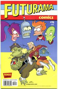 FUTURAMA #76, NM, Bongo, Fry, Bender, Leela, Prof Farnsworth, more in store