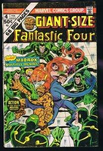 Giant Size Fantastic Four #4 ORIGINAL Vintage 1975 Marvel Comics 1st Madrox