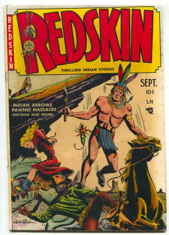 Redskin #1 1950- Walter Johnson Golden Age Western FN-