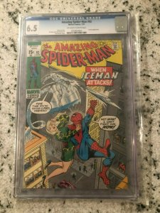 Amazing Spider-Man # 92 FN+ CGC 6.5 GRADED Marvel COMIC Book Iceman Stan Lee TJ1