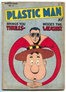 Plastic Man #6 1947- JACK COLE art- Golden Age comic VG+
