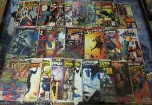 Big ol' ACTION COMICS lot!VF/+31 books!Byrne,Michelinie,Stern,Superman 1987-1998