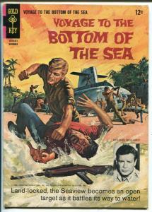 Voyage To The Bottom Of The Sea #6 1966-Gold Key-Richard Basehart-TV photo-FN-
