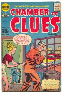 Chamber of Clues #28 1955- 1st code issue- Harvey comics VG