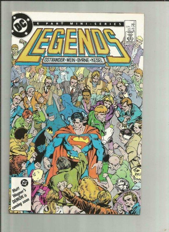 LEGENDS #3, VF/NM, Batman, John Byrne, Superman, DC, 1986 more in store