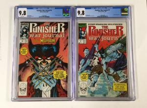 Punisher War Journal 6 And 7 Cgc 9.8 Pair Parts 1 And 2 Marvel Wolverine!