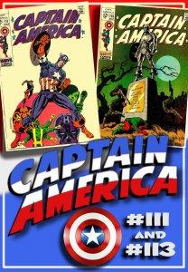 CAPTAIN AMERICA #111 & 113 (1969) 6.5 FN+  Jim Steranko! Cap's death & f...