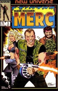 Marvel MARK HAZZARD: MERC #5 FN