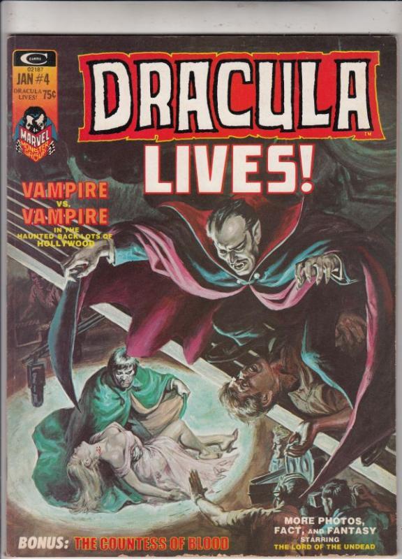 Dracula Lives #4 (Apr-73) VF/NM- High-Grade Dracula