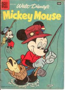 MICKEY MOUSE 59 GOOD May 1958 COMICS BOOK