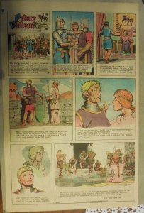 Prince Valiant Sunday by Hal Foster from 9/24/1967 Rare Full Page Size !