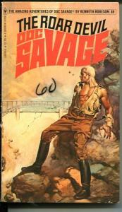 DOC SAVAGE-THE ROAR DEVIL-#88-ROBESON-G/VG-BORIS VALLEJO COVER-1ST EDTION G/VG