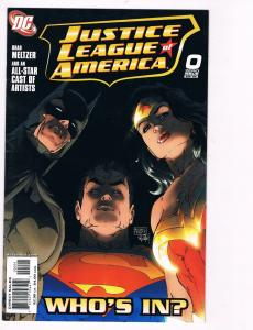 Justice League Of America # 0 DC Comic Books Awesome Issue Batman Superman!! S24
