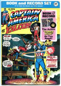 CAPTAIN AMERICA and the FALCON Book and Record Set, VG+, 1974, Vinyl 45