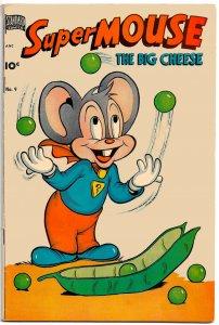 SUPERMOUSE the Big Cheese #9 (Oct 1950) 6.0 FN   Milton Stein and Jack Bradbury!