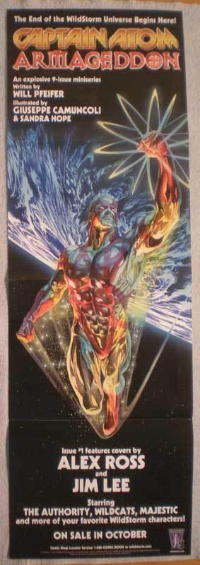 CAPTAIN ATOM ARMAGEDDON Promo Poster, 11x34, Unused, more Promos in store