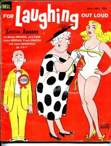 For Laughing Out Loud #16 7/1960-Dell-Mike Berry-wacky cartoons-jokes-Sinatra-VG