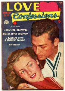 Love Confessions #16 1952- Golden Age Romance- Misery Loves Company FN-