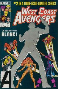 Marvel WEST COAST AVENGERS (1984 Series) #2 VF/NM