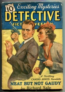Detective Fiction Weekly Pulp January 30 1937- Richard Sale VG