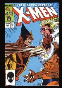 X-Men #222 NM+ 9.6 Marvel Comics Wolverine Vs. Sabretooth!