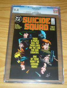 Suicide Squad #1 CGC 9.4 dc comics - 1st print - deadshot - howard chaykin cover