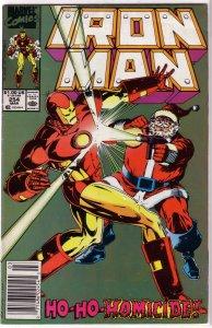 Iron Man   vol. 1  #254 VG Santa Claus, Layton