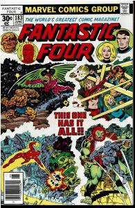 Fantastic Four #183, 9.0 or Better - Last Roy Thomas Story