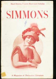 SIMMONS 1912 SEP-ANNA BUSSERT COVER-RARE PULP VG
