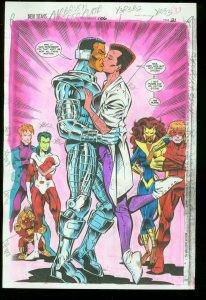NEW TITANS #106 PRODUCTION ART DC COLOR GUIDE