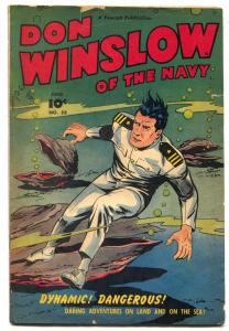 Don Winslow Comics #58 1948- CLAM COVER- Golden Age VG