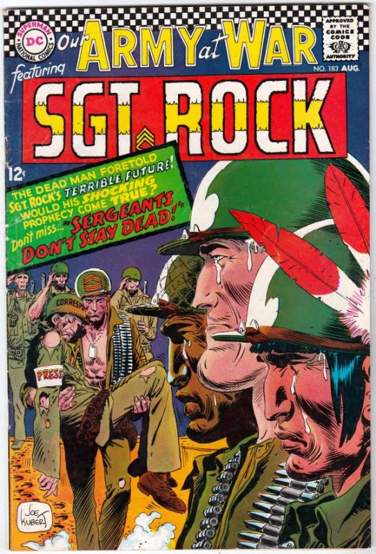 Our Army at War #183 (Aug-67) FN/VF Mid-High-Grade Easy Company, Sgt Rock