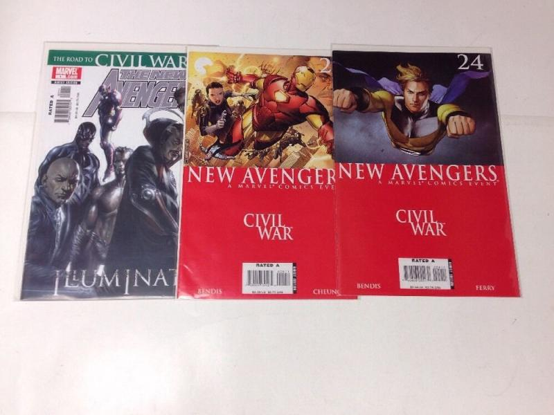 New Avengers 24 25 Civil War Near Mint Lot Set Run Plus Illuminati