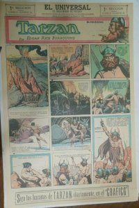 Tarzan Sunday Page #620 Burne Hogarth from 1/24/1943 in Spanish! Full Page Size