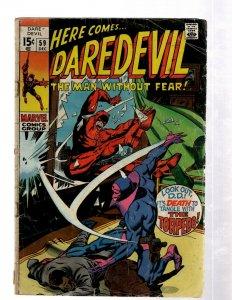 Daredevil # 59 PR Marvel Comic Book Kingpin Hell's Kitchen Elektra Bullseye J460