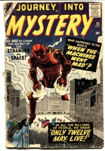 JOURNEY INTO MYSTERY #53 1959 Atlas Kirby and Ditko robot cover
